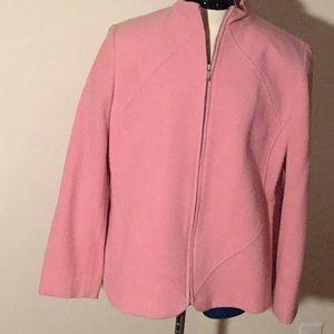 jones NY pink wool jacket.
